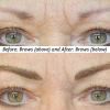 After brow shape and color was corrected.