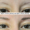 This involved color correction and reshaping the brow.
